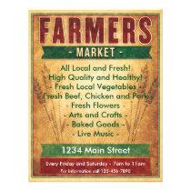 Farmers Market Eat Local Flyer