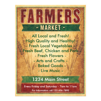 Farmers Market Eat Local Flyer