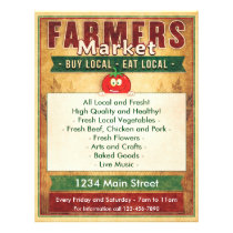 Farmers Market Eat Local Sign Flyer