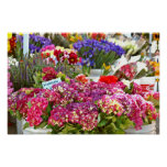Farmer's Market Flower Stall Poster