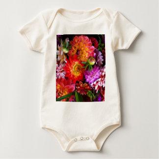 Farmers market flowers baby bodysuit