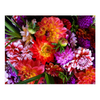 Farmers market flowers postcard