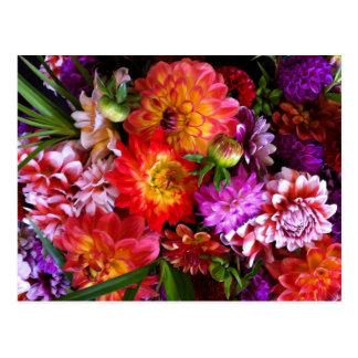 Farmers market flowers postcard