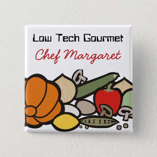 farmers market food chef catering wearable button