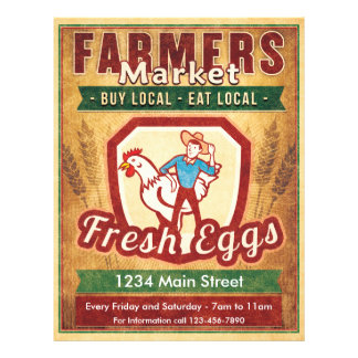 Farmers Market Fresh Eggs Flyer