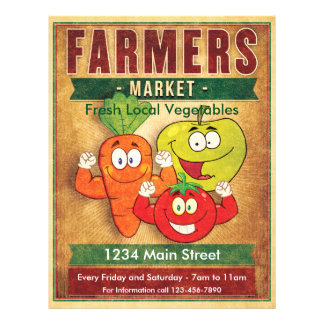 Farmers Market Fresh Local Vegetables Flyer