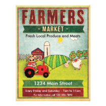 Farmers Market Fresh Produce and Meats Flyer