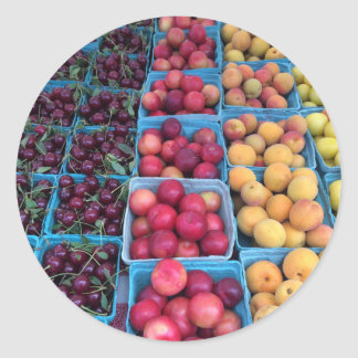 Farmers Market Fruit Classic Round Sticker