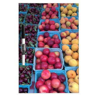 Farmers Market Fruit Dry Erase Board