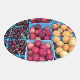Farmers Market Fruit Oval Sticker