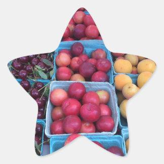 Farmers Market Fruit Star Sticker