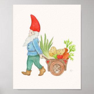Farmers Market Gnome art print