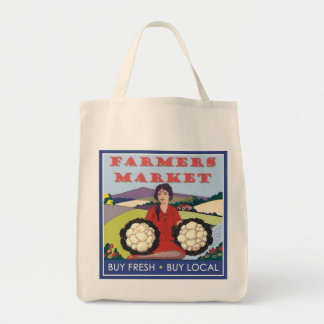 Farmers Market Grocery Tote Bag