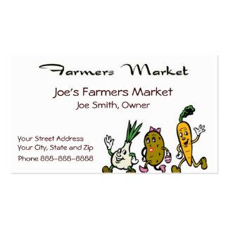 Farmers Market Health Food Business Card