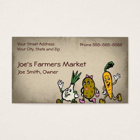 Health Food Farmers Market Business Cards