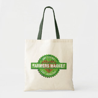 Farmers Market Heart Budget Tote Bag