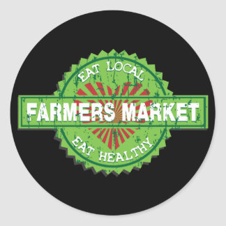 Farmers Market Heart Classic Round Sticker