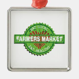 Farmers Market Heart Metal Ornament