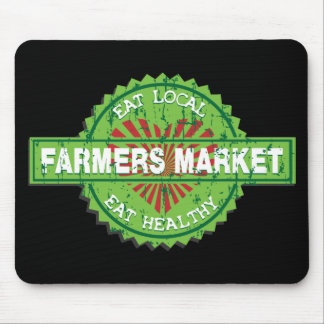 Farmers Market Heart Mouse Pad