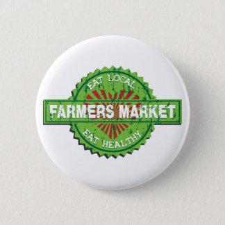 Farmers Market Heart Pinback Button
