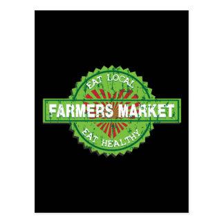 Farmers Market Heart Postcard