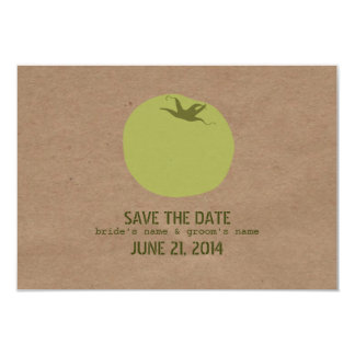 Farmers Market Inspired Green Tomato Save The Date Card