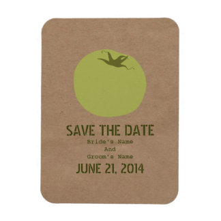 Farmers Market Inspired Green Tomato Save The Date Magnet