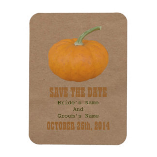 Farmers Market Inspired Save The Date | Pumpkin Magnet