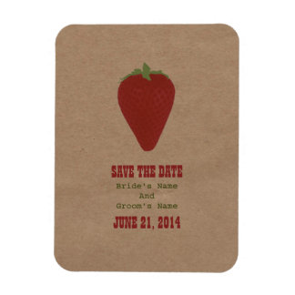 Farmers Market Inspired Save The Date | Strawberry Magnet