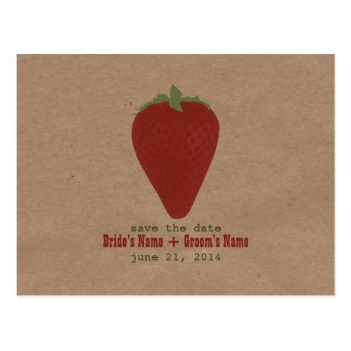 Farmers Market Inspired Save The Date | Strawberry Postcards