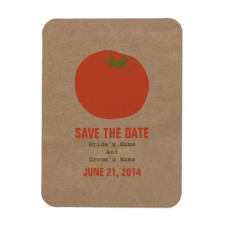 Farmers Market Inspired Save The Date | Tomato Magnet