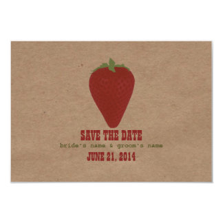 Farmers Market Inspired Wedding RSVP | Strawberry Card