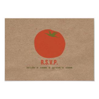 Farmers Market Inspired Wedding RSVP | Tomato Card