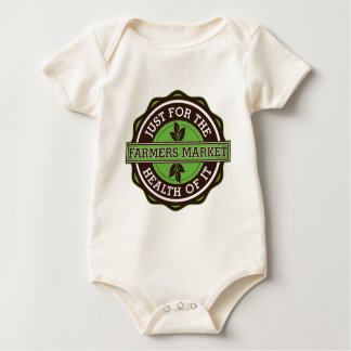 Farmers Market Just For the Health of It Baby Bodysuit
