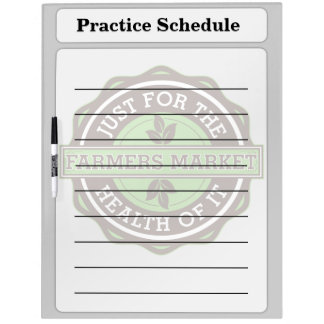 Farmers Market Just For the Health of It Dry Erase Boards