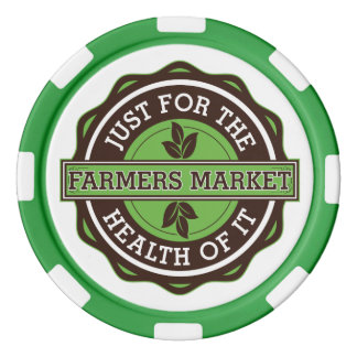 Farmers Market Just For the Health of It Set Of Poker Chips