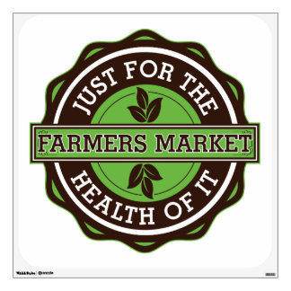 Farmers Market Just For the Health of It Wall Sticker
