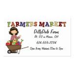 Farmers Market Lady Veggies Business Card