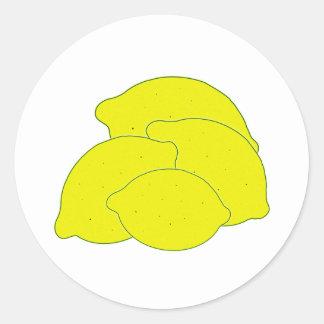 Farmers Market Lemons Assortment Classic Round Sticker