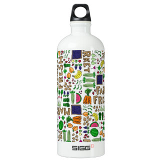 Farmer's Market Medley Aluminum Water Bottle