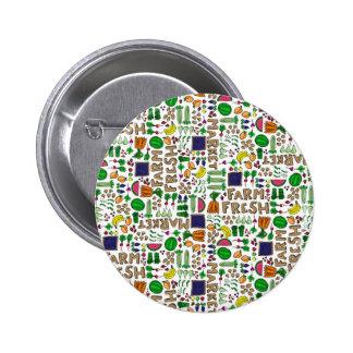 Farmer's Market Medley Pinback Button