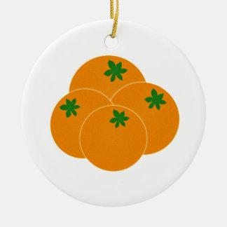 Farmers Market Oranges Assortment Christmas Ornament