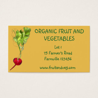 Farmer's Market organic vegetables agriculture Business Card
