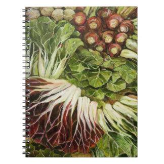 Farmer's Market Painted Veggie Notebook