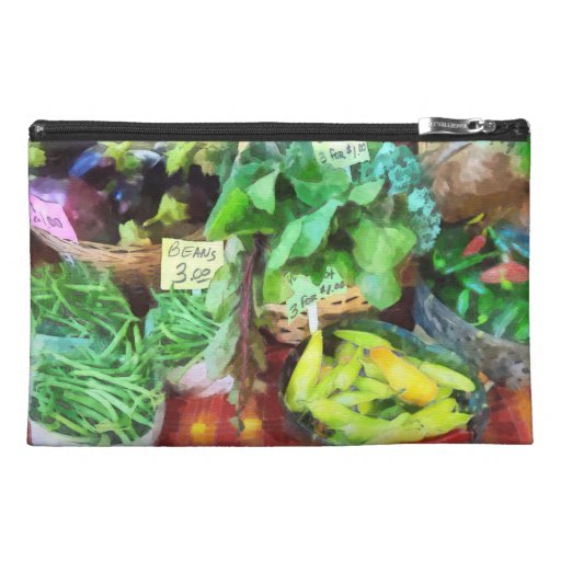 Farmer's Market - Peppers and String Beans Travel Accessory Bags