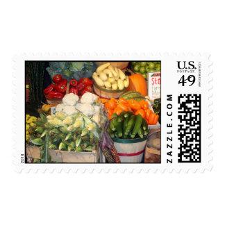 Farmers Market Postage Stamp