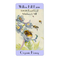 Farmers Market Product Labels Honey Bees Flowers