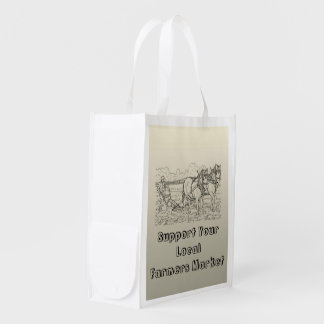 Farmers Market Reusable Grocery Bag by Janz