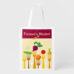 Farmer's Market Reusable Shopping Bag