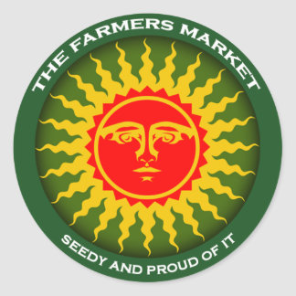 Farmers Market Round Stickers